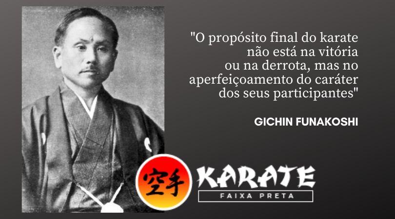 Funakoshi Sensei Karate Faixa Preta