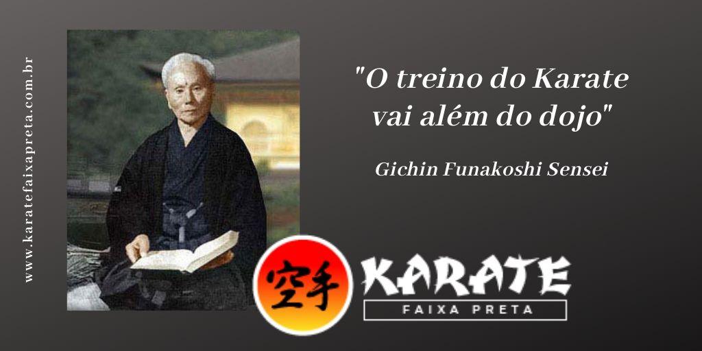 Funakoshi Sensei Treino Karate
